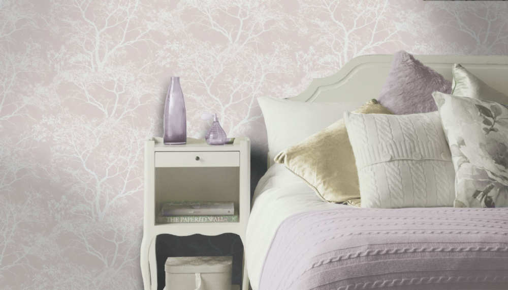 Holden Decor Whispering Tree Pink 65400 Wallpaper